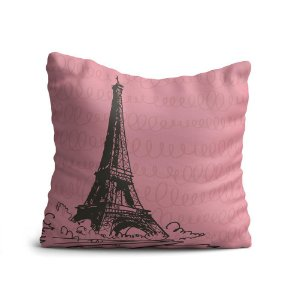Almofada Yuzo Avulsa 45x45cm Paris Torre Eiffel