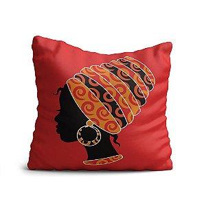 Capa de Almofada Yuzo Avulsa 45x45cm Africana Vermelha