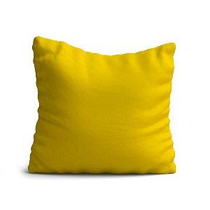 Capa de Almofada Yuzo Avulsa 45x45cm Amarela Lisa