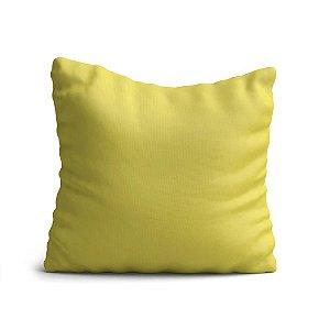 Capa de Almofada Yuzo Avulsa 45x45cm Amarelo Claro Lisa