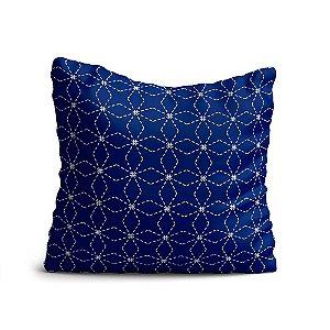 Capa de Almofada Yuzo Avulsa 45x45cm Geométrica Azul