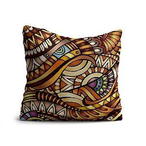 Capa de Almofada Yuzo Avulsa 45x45cm Mandala Colorida