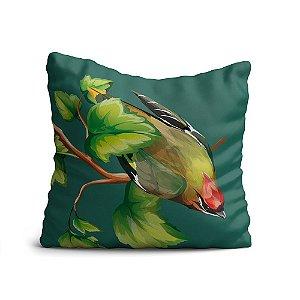 Capa de Almofada Yuzo Avulsa 45x45cm Pássaro Colorida