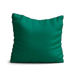 Capa de Almofada Yuzo Avulsa 45x45cm Verde Lisa