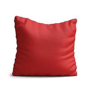 Capa de Almofada Yuzo Avulsa 45x45cm Vermelha Lisa