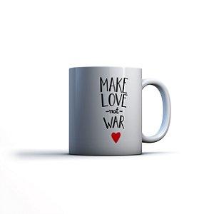 Caneca Yuzo 23x9,5cm Make Love Not War