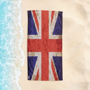 Toalha de Praia Yuzo 70x140cm Bandeira Reino Unido