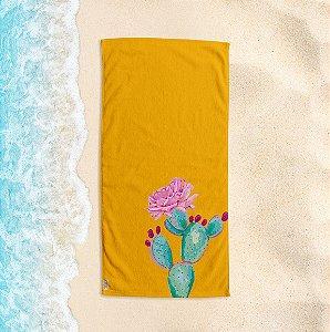 Toalha de Praia Yuzo 70x140cm Cacto Amarela