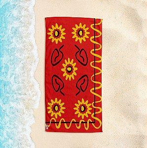 Toalha de Praia Yuzo 70x140cm Étnica Colorida
