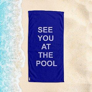 Toalha de Praia Yuzo 70x140cm Azul See You At The Pool