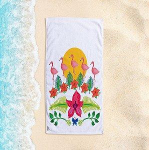 Toalha de Praia Yuzo 70x140cm Tropical Colorida