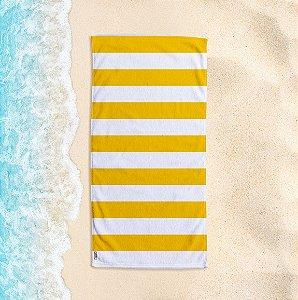 Toalha de Praia Yuzo 70x140cm Listrada Amarela