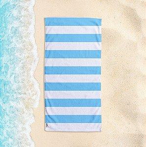 Toalha de Praia Yuzo 70x140cm Listrada Azul Bebê