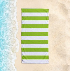 Toalha de Praia Yuzo 70x140cm Listrada Verde Claro