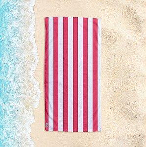 Toalha de Praia Yuzo 70x140cm Listrada Rosé