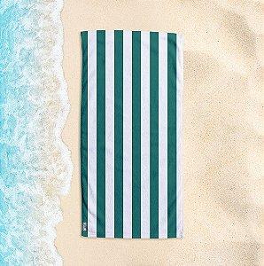 Toalha de Praia Yuzo 70x140cm Listrada Verde