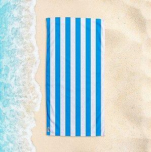 Toalha de Praia Yuzo 70x140cm Listrada Azul Claro