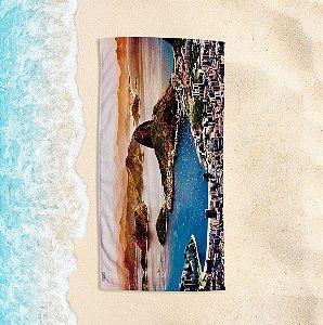 Toalha de Praia Yuzo 70x140cm Cartão Postal Rio de Janeiro
