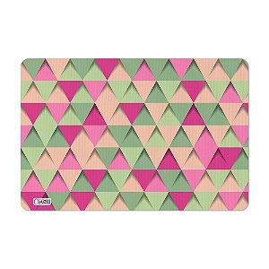 Tapete de Cozinha Avulso 40x60 Triângulos Rosa