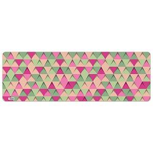 Tapete de Cozinha Avulso 40x120 Triângulos Rosa