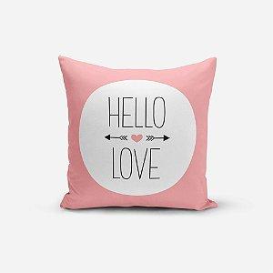 Almofada Avulsa Yuzo 45x45cm Hello Love Rosa