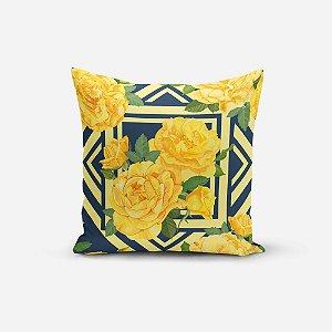 Capa de Almofada Avulsa Yuzo 45x45cm Floral Colorida