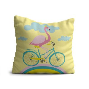 Capa de Almofada Avulsa Yuzo 45x45cm Infantil Flamingo