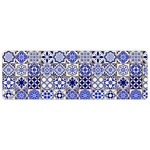 Tapete de Cozinha Avulso 40x120 Português Azul