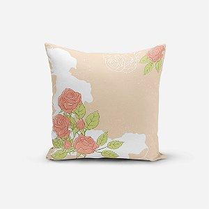 Almofada Avulsa Yuzo 45x45cm Floral Rosa