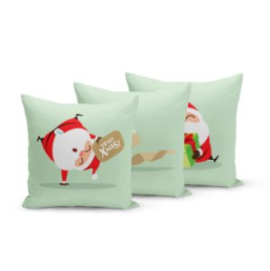 Kit 3 Capas de Almofadas de Natal Yuzo 45x45cm Papai Noel