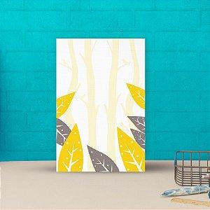 Placa decorativa 20x30cm Decorativa Folhas