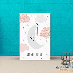 Placa decorativa 20x30cm Decorativa Infantil Lua