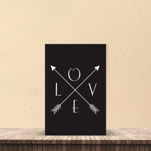 Placa decorativa 20x30cm Decorativa Love