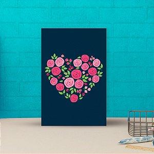 Placa decorativa 20x30cm Decorativa Coração