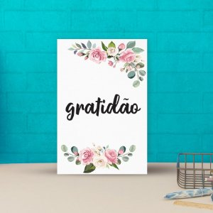 Placa decorativa 20x30cm Decorativa Gratidão