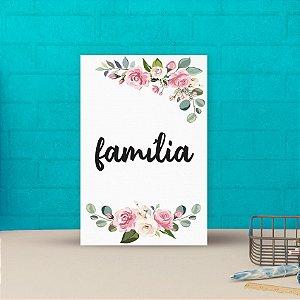 Placa decorativa 20x30cm Decorativa Família