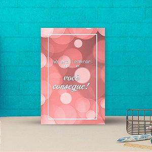 Placa decorativa 20x30cm Decorativa Você Consegue
