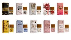 Kit Entity 10 peças - Femininos  - Conforme Foto - Grátis provadores 15 ml de cada Fragrância
