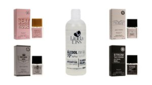 Perfume Kit Entity 4 Pçs 25ml cada + Álcool Gel 500ml Grátis - Conforme foto