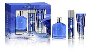 ESTOJO PARA PRESENTE SPORT BLUE POUR HOMME EDT 100 ML + DEO 75 ML + SHOWER GEL BANHO