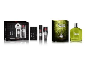 KIT- NATAL PAPAI NOEL CHEGOU  ESTOJO SOLID BLACK 3PÇS  EDT 100ML + DESO + GEL  + 1 ROMAN EMPIRE  100 ML