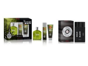 KIT- NATAL PAPAI NOEL CHEGOU  ESTOJO ROMAN EMPIRE 3 PÇS EDT 100ML + DESO + GEL   + 1 SOLID BLACK 100 ML