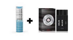 Desodorante Spray Alta Moda Origin 200 ml + Perfume Entity Solid Black 100 ml
