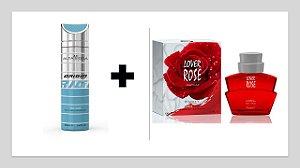 Desodorante Spray Alta Moda Origin 200 ml + Perfume Entity Lover Rose 100 ml