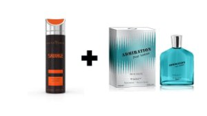 Desodorante Spray Alta Moda Sauvage 200 ml + Perfume Entity Admiration 100 ml