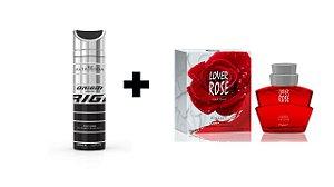 Desodorante Spray Alta Moda Intense 200 ml + Perfume Entity Lover Rose 100 ml