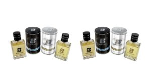 KIT BOXTER 4 PÇS BLACK E WHITE 2 DE CADA 100 ML - LATA METAL