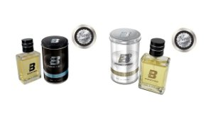 KIT BOXTER 2 PÇS BLACK E WHITE 1 DE CADA 100 ML - LATA METAL NEW CONCEPT + amostras 10ml