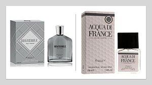 Perfume Invisible Hom 100ml + 1 Perfume Acqua di France 25 ml New Concept