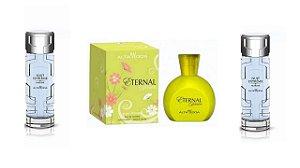 Kit Perfume Eternal 100ml  com caixa + 2 pç Marine 100ml sem caixa